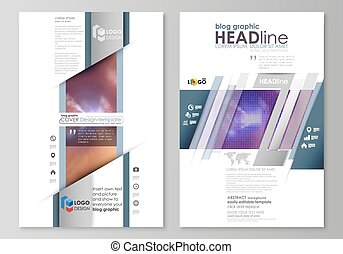 Blog graphic business templates. Page website template, easy editable abstract vector layout. Bright color colorful design, beautiful futuristic background.