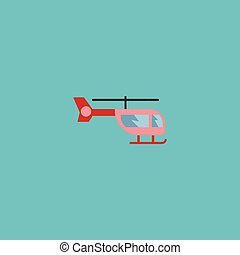 Flat Icon Helicopter Element. Vector Illustration Of Flat Icon Chopper Isolated On Clean Background. Can Be Used As Helicopter, Chopper And Air Symbols.