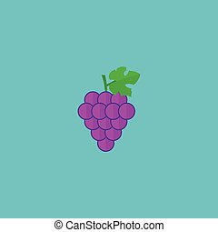 Flat Icon Grapes Element. Vector Illustration Of Flat Icon Cluster Isolated On Clean Background. Can Be Used As Grape, Cluster And Merlot Symbols.