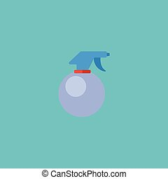 Flat Icon Atomizer Element. Vector Illustration Of Flat Icon Spray Bottle Isolated On Clean Background. Can Be Used As Atomizer, Spray And Bottle Symbols.