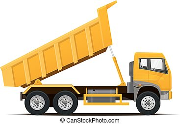 Dumper Truck. Vector illustration. - Dumper Truck. High...