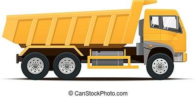 Dumper Truck. Vector illustration.