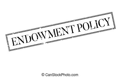 Endowment Policy rubber stamp