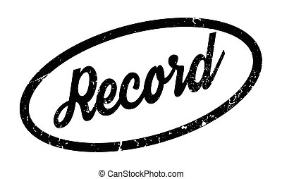Record rubber stamp. Grunge design with dust scratches....