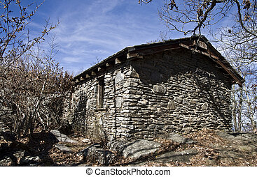 Old Stone Building - This is a old stone shelter built by...