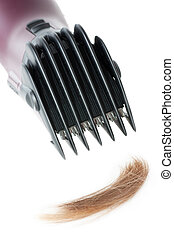Hair style cutter - Electric hair style cutter isolated over...
