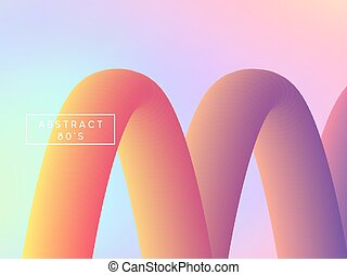 Retro holographic background, cover. Backdrop colorful...
