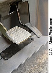 Brake and accelerator pedal for cars