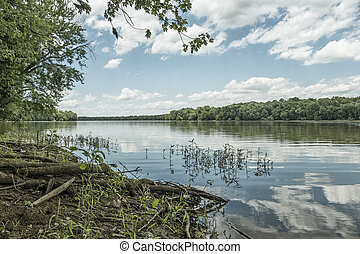 Potomac River - The historic Potomac river on a sunny summer...