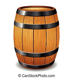 barrel on white background