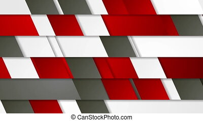 Red and grey geometric tech abstract video animation - Red,...