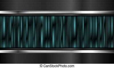 Iridescent turquoise stripes video animation