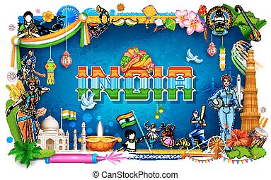 India background showing its incredible culture and...