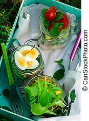 Summer maison jar salad. outdoor light. - Summer maison jar...
