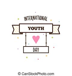 Youth day. Vector illustration.