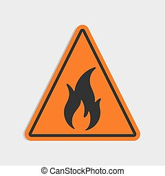 Hazard warning sign. Flammable