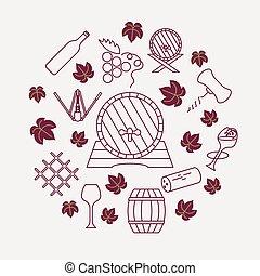 Wine icons