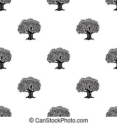 Olive Tree.Olives single icon in black style vector symbol...