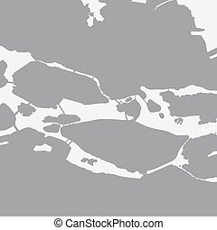Stockholm city map in gray on a white background