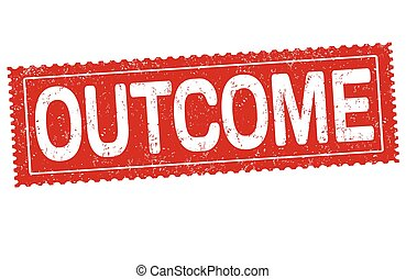 Outcome sign or stamp on white background, vector...