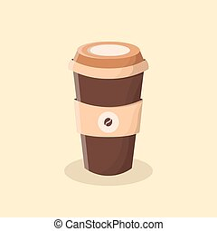 Coffee to go. Cup of coffee