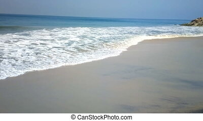 Fine sand and gentle sea wave on beaches of Goa and Kerala....