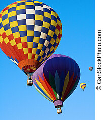 Several colorful balloons - Several colorful hot air...
