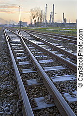Frozen rail tracks - High dynamic range impression of frozen...
