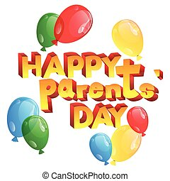 Greeting card or poster for Parents Day.