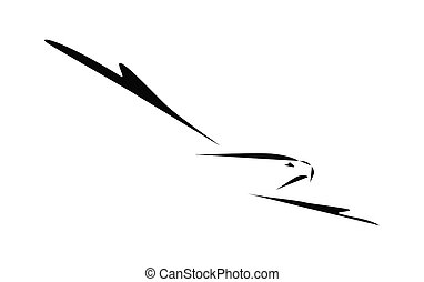 Icon. Head of eagle.