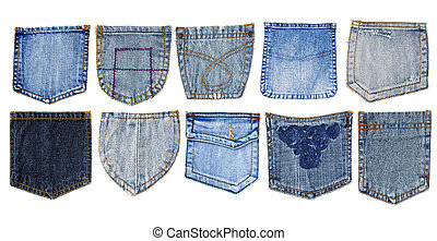 jeans pockets  - jeans pocket isolated on white