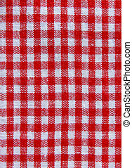 tablecloth fabric - red and white squares of tablecloth...