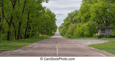 Road in and out of Chernobyl