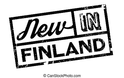 New In Finland rubber stamp. Grunge design with dust...