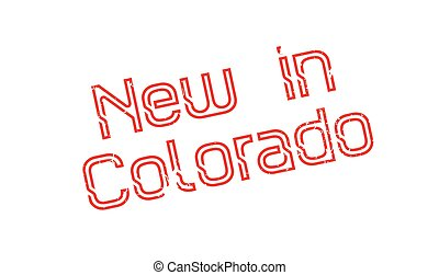 New In Colorado rubber stamp. Grunge design with dust...