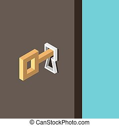 Key in keyhole concept