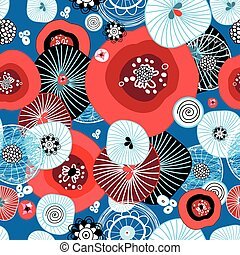 Abstract fantastic bright colored pattern
