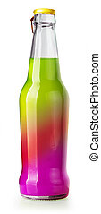 drink glass bottle isolated  on white with clipping path