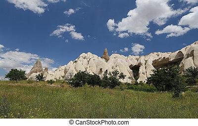 Cappadocia, vale, espadas, formações, rocha