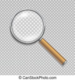 Magnifying glass. Realistic vector illustration