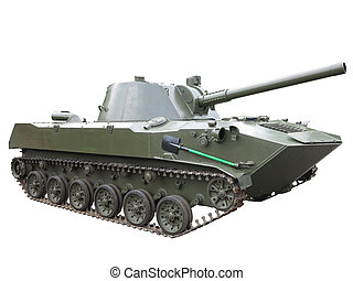 Russian green infantry fighting vehicle isolated