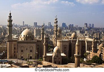 Kairo, horisont, egypten