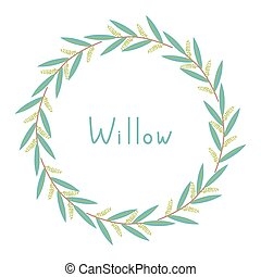 Decorative willow frame - Decorative frame with willow...