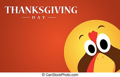 Happy Thanksgiving day with turkey background