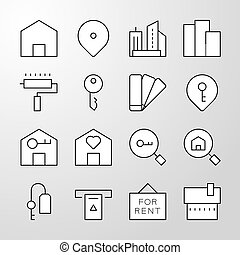 real estate thin line vector icon.