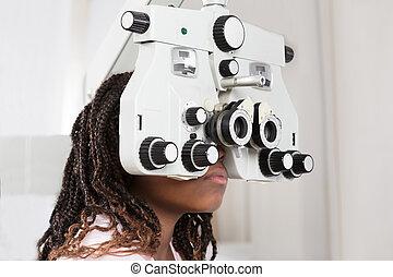 Girl Doing Eye Test