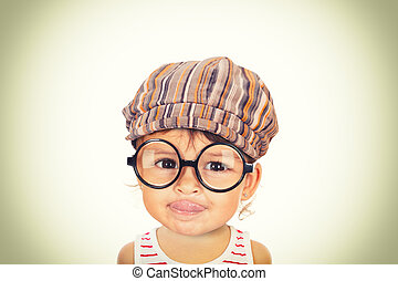 beautiful girl with glasses and cap - beuatiful girl...