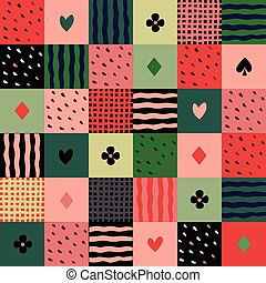 colorful patchwork seamless pattern