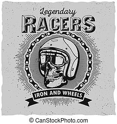 Lagendary Racers Poster - Lagendary racers poster with one...