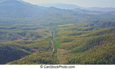 Upper Panoramic View Jungle Valley Mountains in Background -...